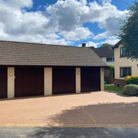 Resin Driveway Brown and red