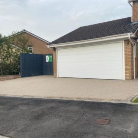 Resin Driveway Cream and Brown