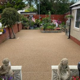 Resin Patio and Flowers