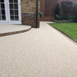 Resin Patio and Step